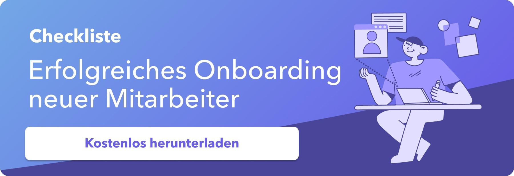 Onboarding Kostenlose Checkliste