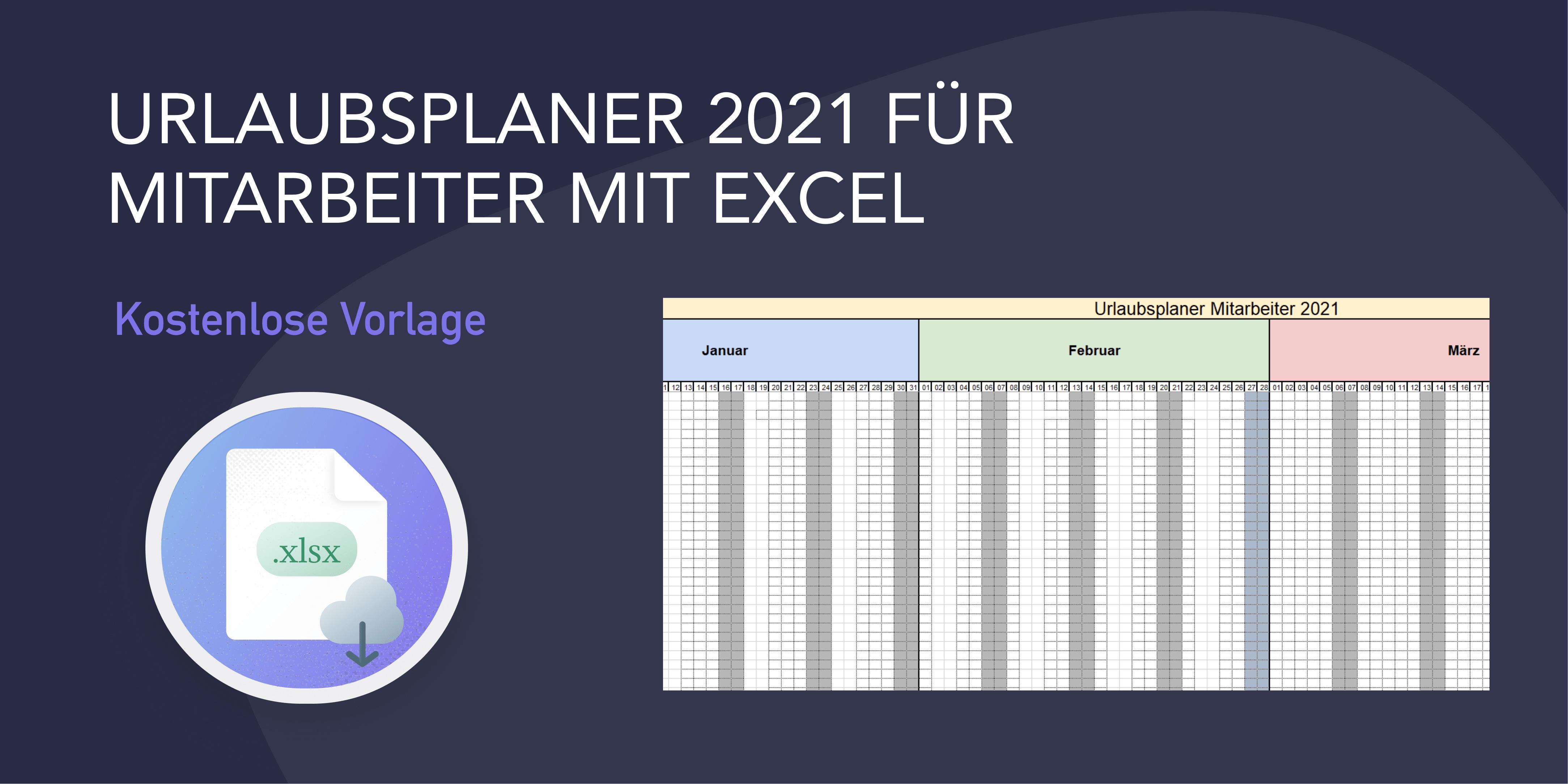 Kostenloser Urlaubsplaner Excel 2020 Vorlage Excelx